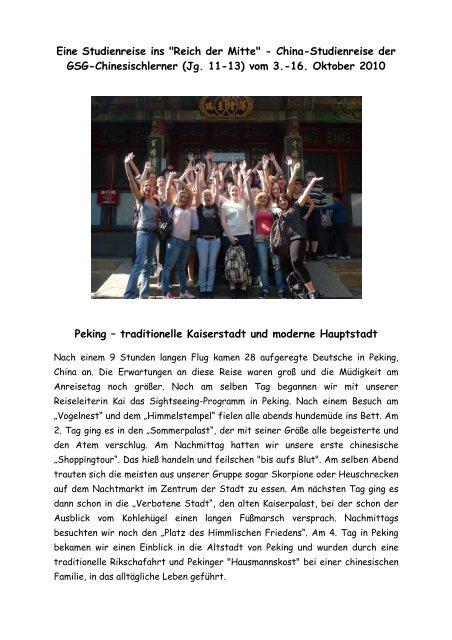 """Eine Studienreise ins """"Reich der Mitte"""" - China-Studienreise der ..."""