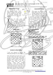 The First Daily Chess Newspaper on the Net - Chess Today