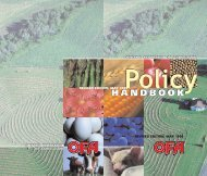 OFA Policy Handbook - Ontario Federation of Agriculture