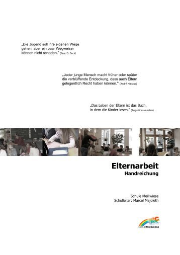 "Handreichung ""Elternarbeit - meiliwiese - Schule Hinwil"
