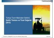 TARMAKBİR ve Tarım Makinaları Sektörü Tanıtım Sunumu
