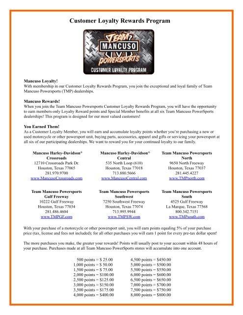 Loyalty Rewards Program >> Customer Loyalty Rewards Program