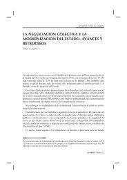 La negociacion colectiva y la modernizacion del Estado, avances y ...