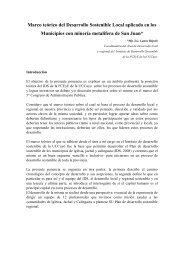 Marco teórico del Desarrollo Sostenible Local aplicado en los ...
