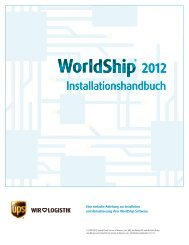 UPS WorldShip™ 2011 Installation Guide