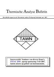 Thermische Analyse Bulletin - Universiteit Utrecht
