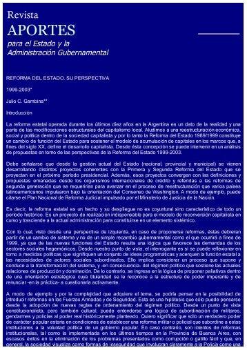 Reforma del Estado. Su Perspectiva 1999-2003 - Asociación de ...