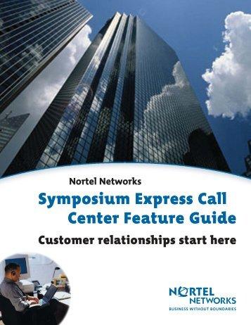 Nortel Networks Symposium Express Call Center ... - felix telecom