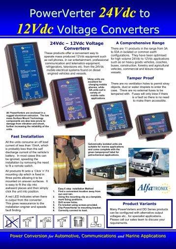 Alfatronix PowerVerter Leaflet - ICS Electronics Ltd