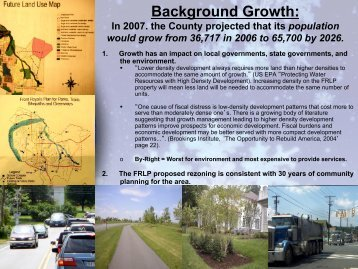Background Growth: - Front Royal Limited Partnership Proposal