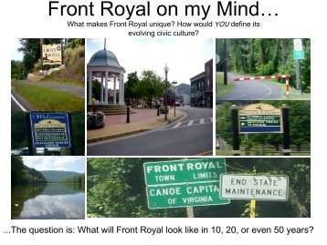 Front Royal on my Mind… - Front Royal Limited Partnership Proposal