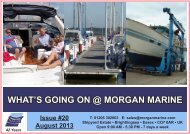 What's Going On @ Morgan Marine Summer 2013 Newsletter