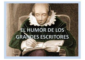 El humor de los grandes escritores.pps - Wikiblues.net