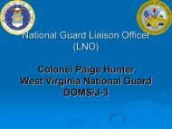 National Guard Liaison Officer (LNO) Colonel Paige Hunter West ...