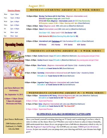 Newsletter - Just Dance Ballroom