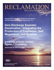 Zero Discharge Seawater Desalination - Bureau of Reclamation