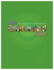 2008 Cal/EPA Consolidated Environmental Law Enforcement Report
