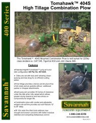 Tomahawk™ 404S High Tillage Combination Plow - Savannah ...