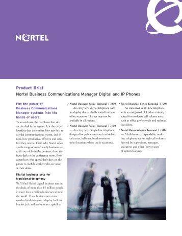 Nortel Digital and IP Phones - felix telecom