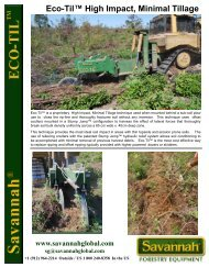 Eco-Til™ High Impact, Minimal Tillage - Savannah Forestry ...