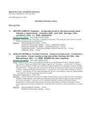 Bibliografía sobre Reforma Procesal Penal - Biblioteca del ...