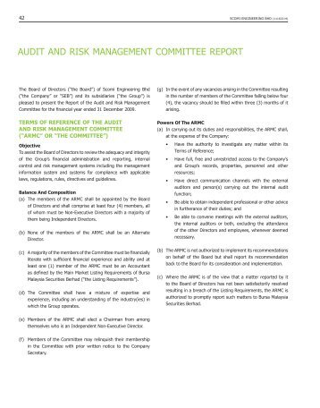 AUDIT AND RISK MANAGEMENT COMMITTEE REPORT
