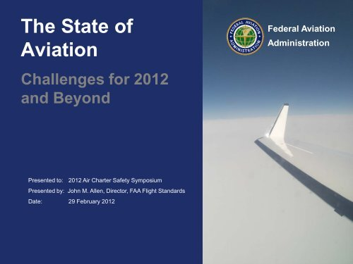 FAA Update - Air Charter Safety Foundation