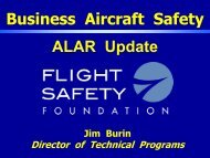 Business Aircraft Safety ALAR Update - Air Charter Safety Foundation