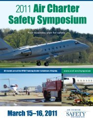 March 15–16, 2011 - Air Charter Safety Foundation