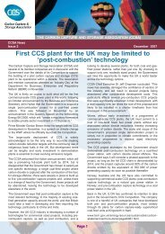 'post-combustion' technology - The Carbon Capture & Storage ...