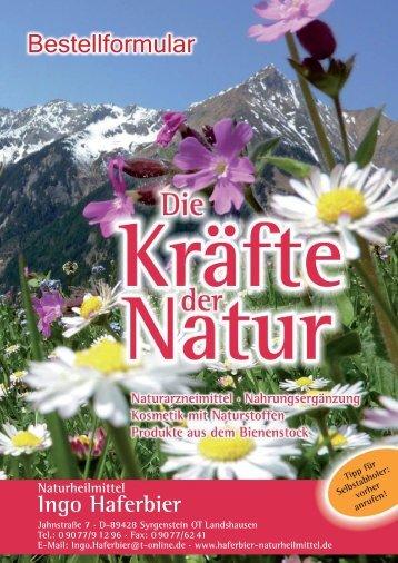 Bestellformular - Naturheilmittel Vertrieb Ingo Haferbier