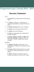 Programme 2010-2011 - EBAF - Page 2