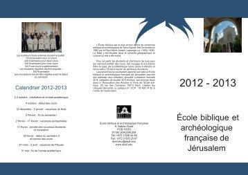 Programme 2012-2013 - EBAF