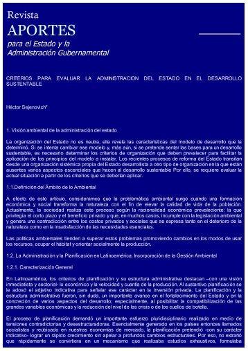 Criterios para Evaluar la Administración del Estado en el Desarrollo ...