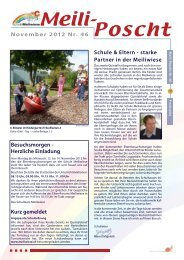 Schule & Eltern - starke Partner in der Meiliwiese