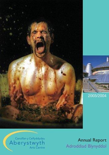 Adroddiad blynyddol 2003-2004 Annual Reportpdf 880K