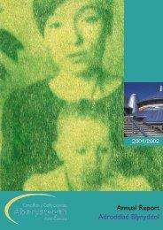 Adroddiad blynyddol 2001-2002 Annual Reportpdf 673K