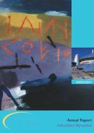 Adroddiad blynyddol 2000-2001 Annual Reportpdf 948K