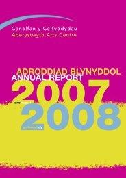 Adroddiad blynyddol 2007-2008 Annual Reportpdf 1688K