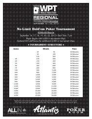 No-Limit Hold'em Poker Tournament - Atlantis Casino Resort