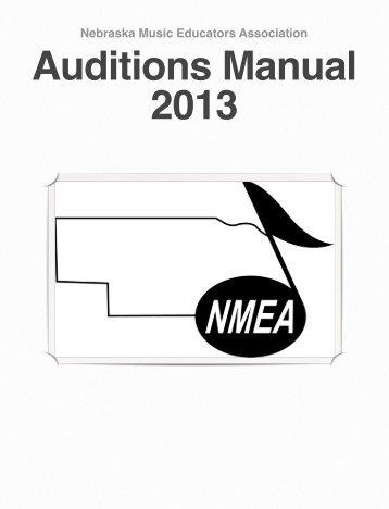 All-State Chorus Manual - Nebraska Music Educators Association
