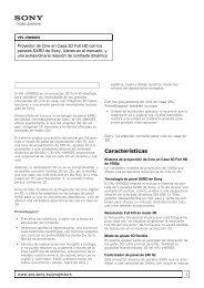 Sony : Información del producto : VPL-VW90ES ... - que Video