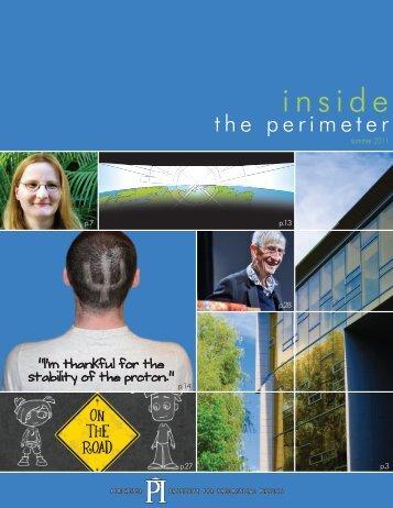 Inside the Perimeter - Summer 2011 - Perimeter Institute