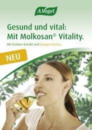 Gesund und vital: Mit Molkosan® Vitality. - Bioforce GmbH