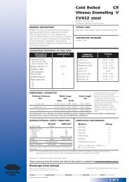 Cold Rolled CR Vitreous Enamelling V CV4S2 steel - BlueScope Steel