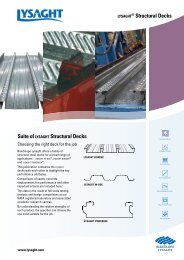 Suite of LYSAGHT Structural Decks ® Structural ... - BlueScope Steel