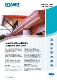 Lysaght Half Round Gutter Lysaght Flat Back Gutter - BlueScope Steel