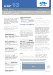 General guide to good practice in the use of steel roofing ... - Lysaght