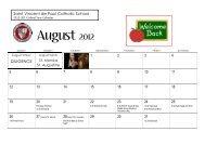 2012 12-Month Basic Calendar (any year) - Saint Vincent de Paul ...
