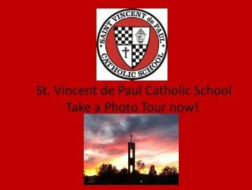 Download a PDF of the Tour - Saint Vincent de Paul Catholic School
